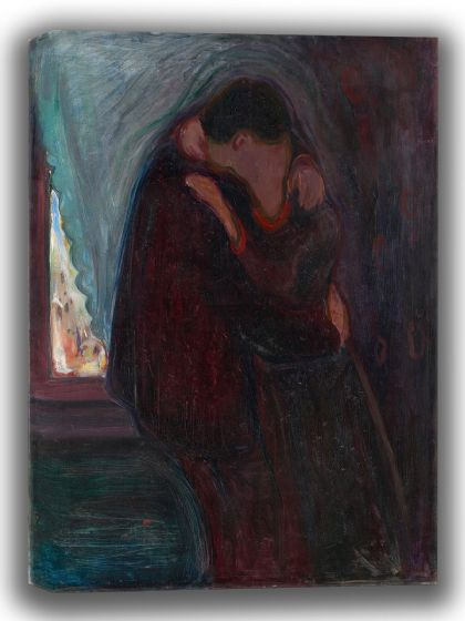 Munch, Edvard: The Kiss. Fine Art Canvas. Sizes: A4/A3/A2/A1 (0081)